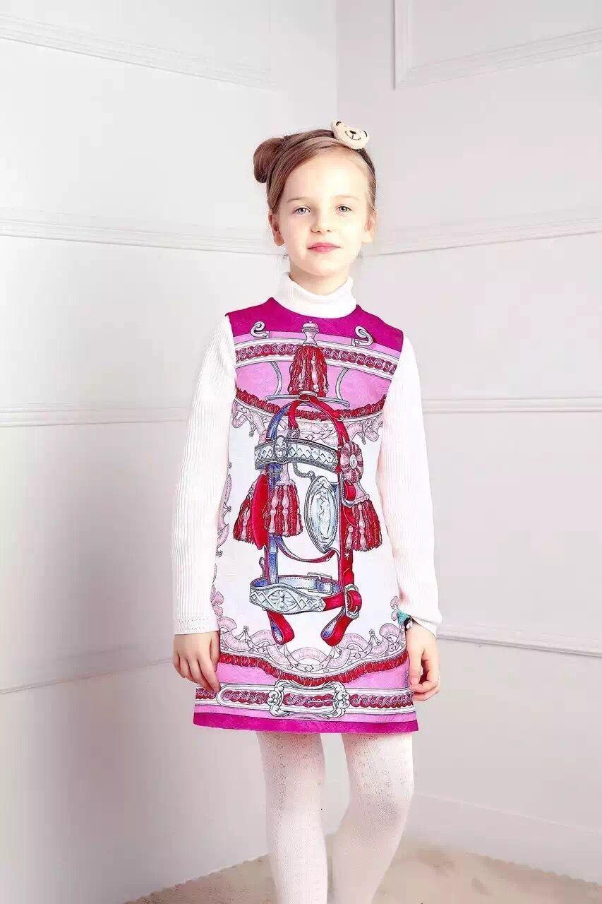 Girls winter font b Dress b font 2016 baby girl font b dresses b font for