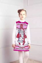 Girls winter Dress 2016 baby girl dresses for Girls Clothes sleeveless print Children Dress baby dress