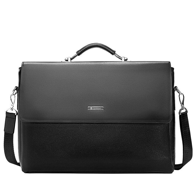 Famous Brand Business Men Briefcase Leather Laptop Handbag Casual Man Bag For Lawyer Shoulder Bag Male Famous Brand Business Men Briefcase Leather Laptop Handbag Casual Man Bag For Lawyer Shoulder Bag Male Office Tote Messenger Bag
