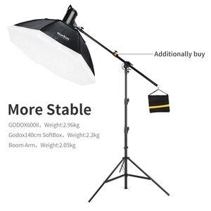 """Image 3 - AMBITFUL 280cm support de lumière à coussin dair 1/4 """"et 3/8"""" support de lumière à pression dair à vis support Supportable pour Flash de Studio"""