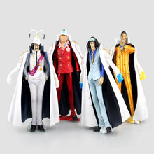 4pcs/set One Piece Action Figure Warring States Marshal Navy Admiral General Headquarters Pheasant Green PVC Model Toy Y6262(China)