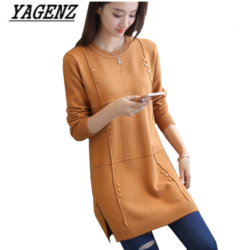 Women's Pullover Sweaters Autumn/Winter Loose Long-sleeve Solid O Neck Sweater Large Size Warm Knitted Casual Lady Clothing 4XL