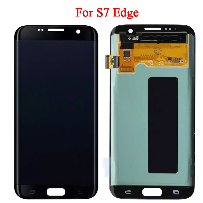 Super AMOLED Écran LCD Pour Samsung S7 bord LCD Affichage Pour S7 bord G935 G935F Affichage LCD Écran Tactile Digitizer l'assemblée