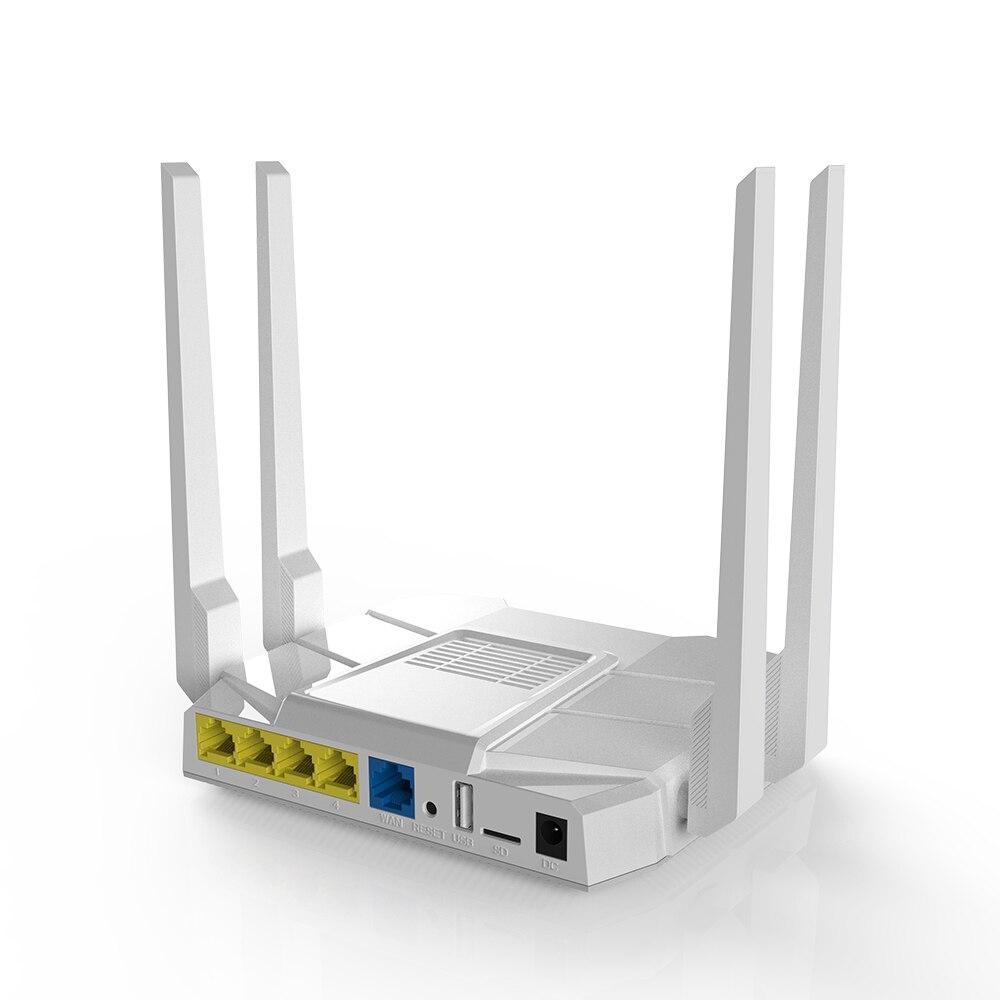 La MT7621 gigabit dual banda router wifi con OpenWrt openvpn router inalámbrico GSM 802.11AC 1200Mbps 2,4G 5G MTK solución inalámbricaRúteres inalámbricos   -