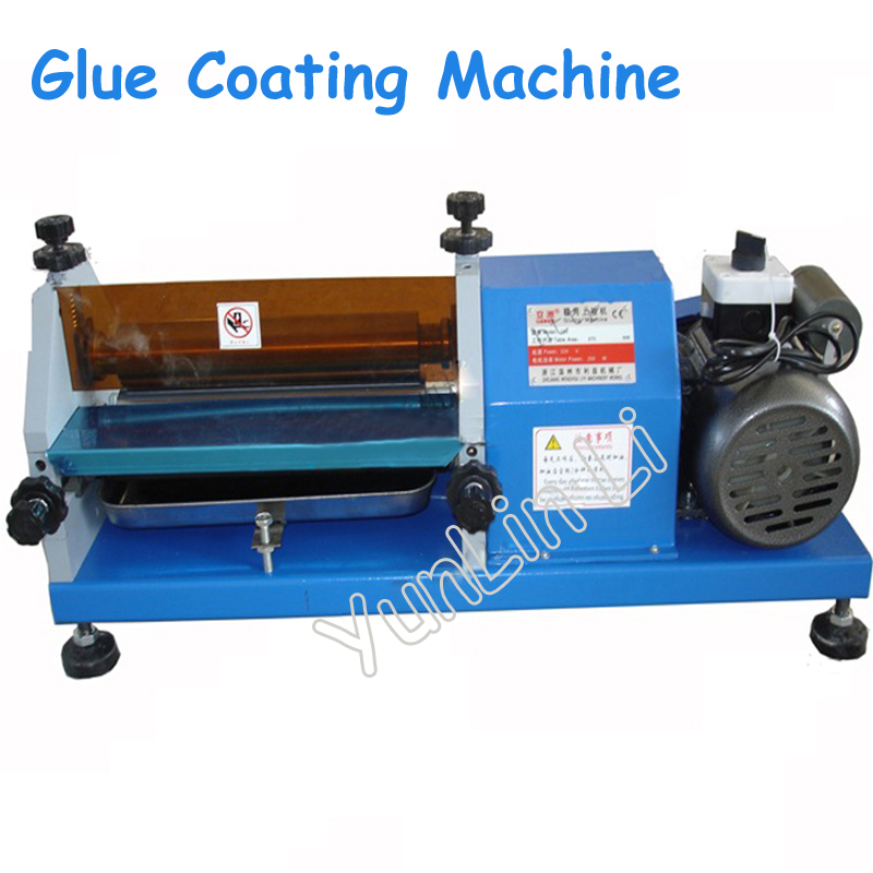Glue Coating Machine for Shoes, Leather, Wood Automatic Pasting Machine 0-27cm Bonding Machine White Glue Machine LZ-103 manual 53cm wallpaper glue coating machine coater wallpaper paste cementing gumming starching gluing machine