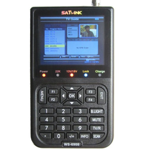 100% SATLINK WS-6908 Digital Satellite Finder Satellite TV Receiver DVB-S FTA Signal 3.5 inch LCD, Support DISEQC 1.0,1.1,1.2 anewkodi original satlink ws 6906 3 5 dvb s fta digital satellite meter satellite finder ws 6906 satlink ws6906