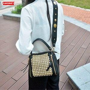 Image 2 - ブロードバンド女性のバッグ 2020 新ダイヤモンドハンドバッグ女性メッセンジャーバッグパッケージバッグとドリルワイドストラップショルダーミニラインストーン