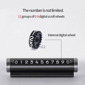 Image 3 - רכב זמני חניה כרטיס לסובב טלפון מספר צלחת אלומיניום Universal פרק עצירת רכב סטיילינג מוצרי אביזרי רכב