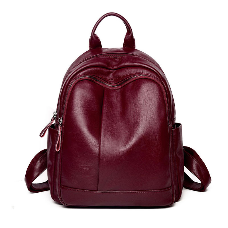 New Arrival Black High Quality Leather Backpack Women Large Capacity School Bag Female Casual Daypacks Mochila Solid Travel Bags hahmes high quality genuine leather women s backpack simple design casual daypacks travel bags cow leather school bag 10948