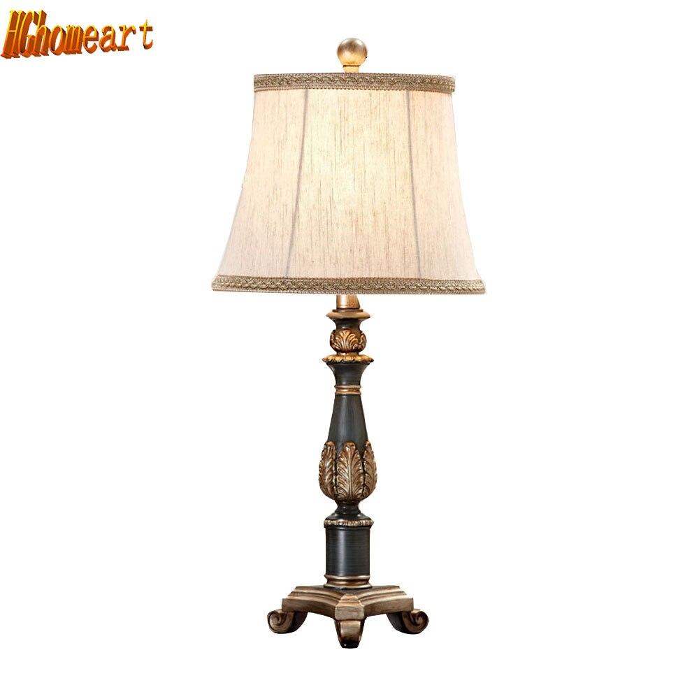 Belle Lampe De Salon #9: HGhomeart E27 Américain Rétro Vent Lampe De Table Chambre Lampe De Chevet  Réglable Loft Décoratif Salon