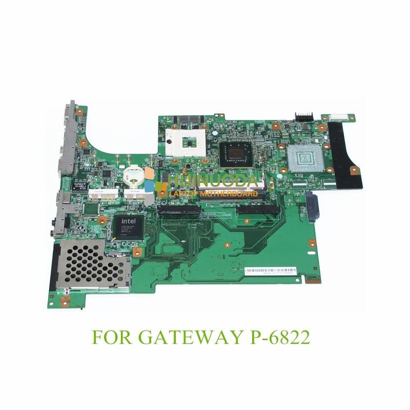 NOKOTION laptop motherboard For gateway P-6822 DDR2 MB 07201-1 48.4V601.011 Mainboard nokotion la 5051p mbbdu02001 mb bdu02 001 laptop motherboard for gateway nv73 m880g ddr2 mainboard tested warranty 60 days