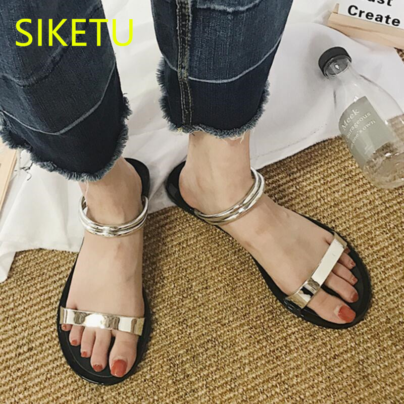 SIKETU Free shipping Summer sandals Fashion casual shoes sex women shoes flip flop Flat shoes Flats l087 flip flop SEX Casual women shoes 2018 summer breathable fashion lady s casual shoes lace up girls handmade women woven shoes flip flop footwear 599w