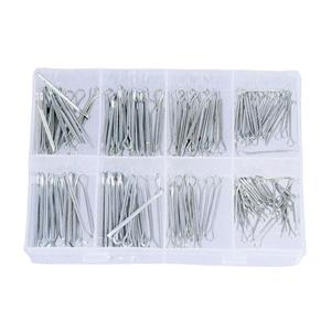 175 PC Galvanized Zinc Alloy Split Cotter Pins Fixing Set Assortment Kits Tool for Use With Cars/Lorry/Towing/Caravans/Machinery