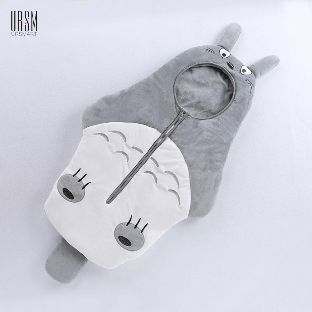 Anti-kick 85cmx40cm Baby Totoro Baby Sleeping Bag Cotton Envelope  Infant Blankets Newborns Bags