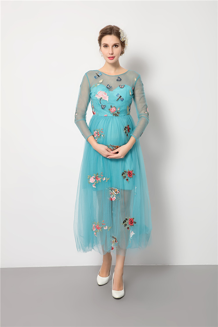 2017 new style maternity clothes robe grossesse summer maternity dress for photo shoots party ropa premama pregnancy clothes -in Dresses from Mother & ...