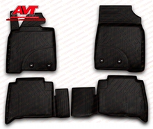 Floor mats for Toyota Land Cruiser 200 2007- 4 pcs rubber rugs non slip rubber interior car styling accessories