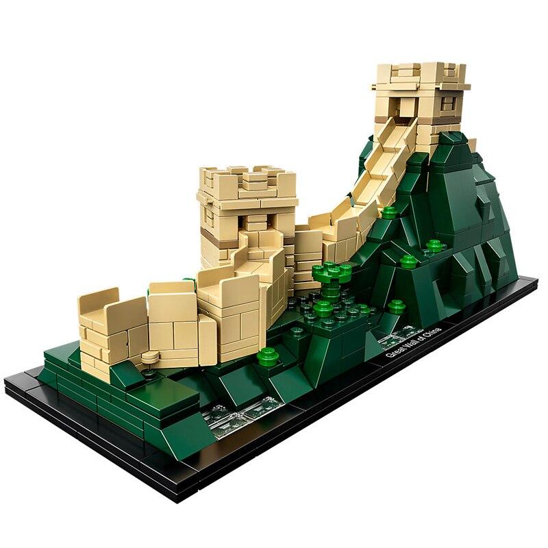 все цены на Architecture Great Wall of China Skyline Building Blocks Kit Bricks Sets Classic City Model Kids Toys Compatible Legoe