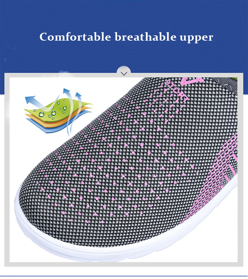 Mesh women sneakers Breathable Slip On casual shoes women fashion comfortable Summer Flat Vulcanize Shoes Zapatos Mujer VT248 (1)