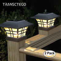2PCS Led Solar Light Fence Post Cap Lights For Garden Decoration Outdoor Waterproof Landscape Courtyard Path Pillar Solar Lamp