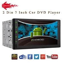 "Doble 2 Din Android 4.2 Del Coche Reproductor de Radio Estéreo Del Coche HD pantalla Multi-táctil de 7 ""pantalla de Navegación GPS Headunit Bluetooth WiFi SIN DVD"