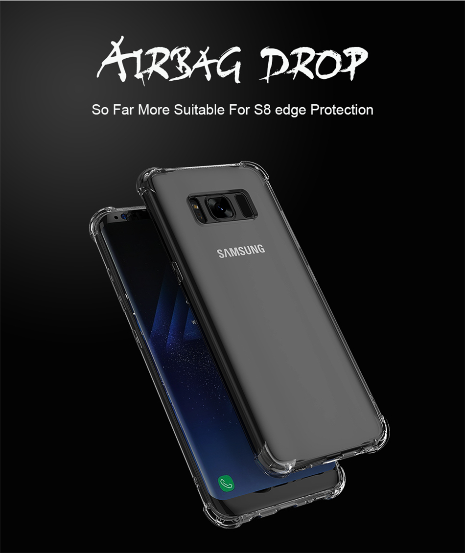Air Bag Phone Case For Samsung Galaxy S10 S10E S8 PLUS S7 Shockproof TPU Clear Case Samsung Galaxy Note 9 8 S9 S8 Plus