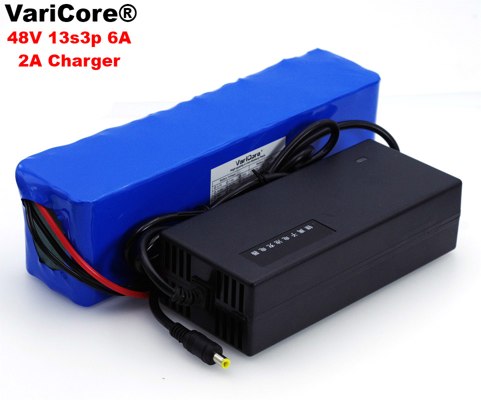 VariCore 48V 6Ah 13s3p High Power 18650 Battery Electric Vehicle Electric Motorcycle DIY Battery BMS Protection+54.6v 2A ChargerVariCore 48V 6Ah 13s3p High Power 18650 Battery Electric Vehicle Electric Motorcycle DIY Battery BMS Protection+54.6v 2A Charger