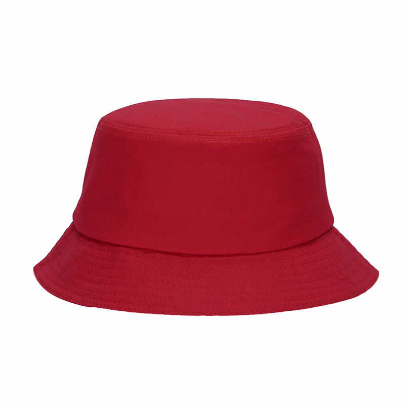 Cotton Knitted Bucket Hats For Women Men 2018 Summer Hip Hop Safari Ladies  Bucket Caps Unisex f588cf5e2ba