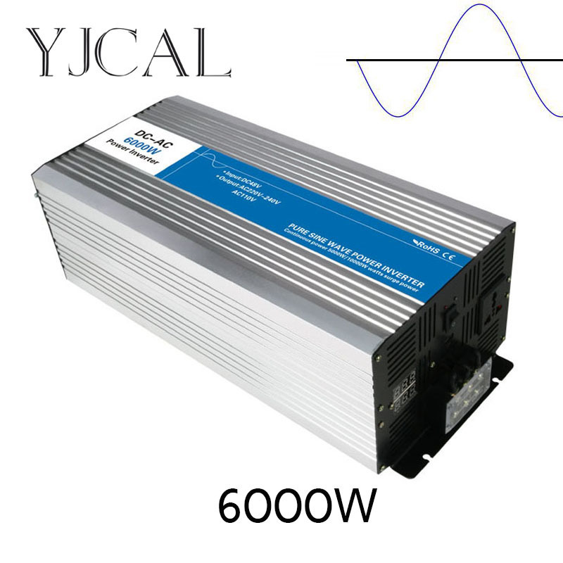 цена на Pure Sine Wave Inverter 6000W Watt DC 12V To AC 220V Home Power Converter Frequency USB Converter Electric Power Supply