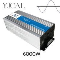 Pure Sinus Omvormer 6000 W Watt DC 12 V Naar AC 220 V Thuis Power Converter Frequentie USB Converter elektrische Voeding