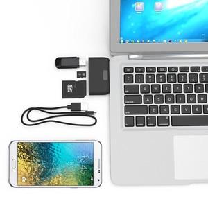 Image 4 - Baolyda aluminium typu C Micro czytnik kart USB 4in1 OTG/TF/SD inteligentny Mini czytnik kart USB/ ładowarka micro USB portu telefonu