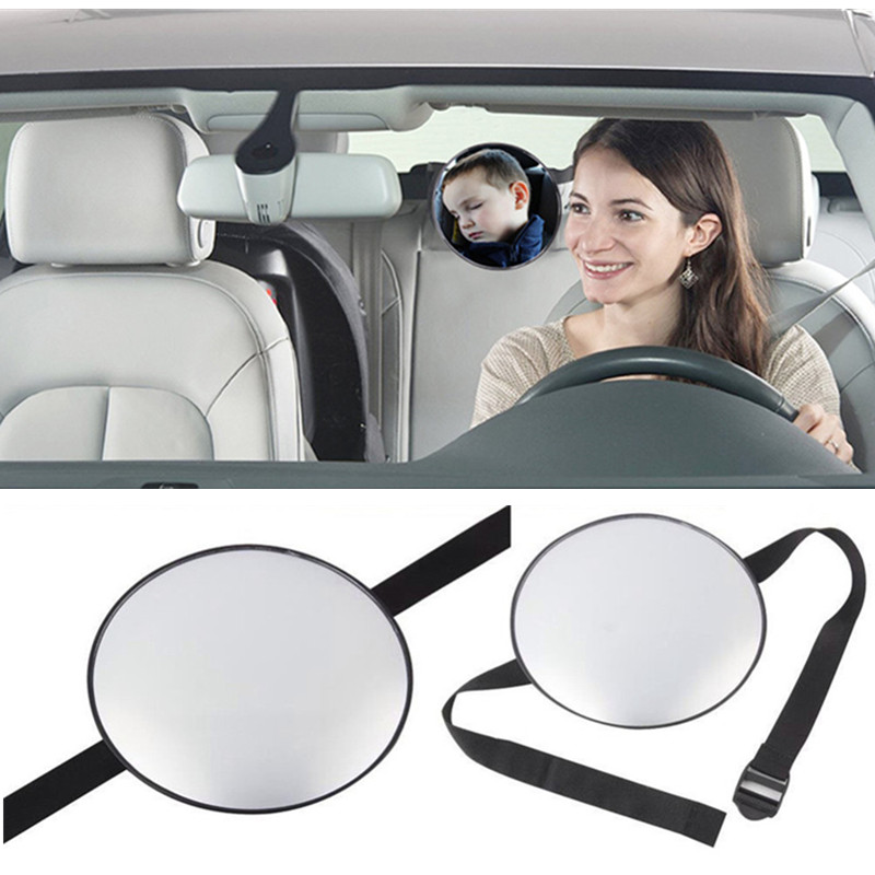 Baby Rear Facing Mirror Safety Kids Monitor Auto Safety Easy View Back Seat Mirror Car Baby Interior Rearview Mirrors Adjustabl