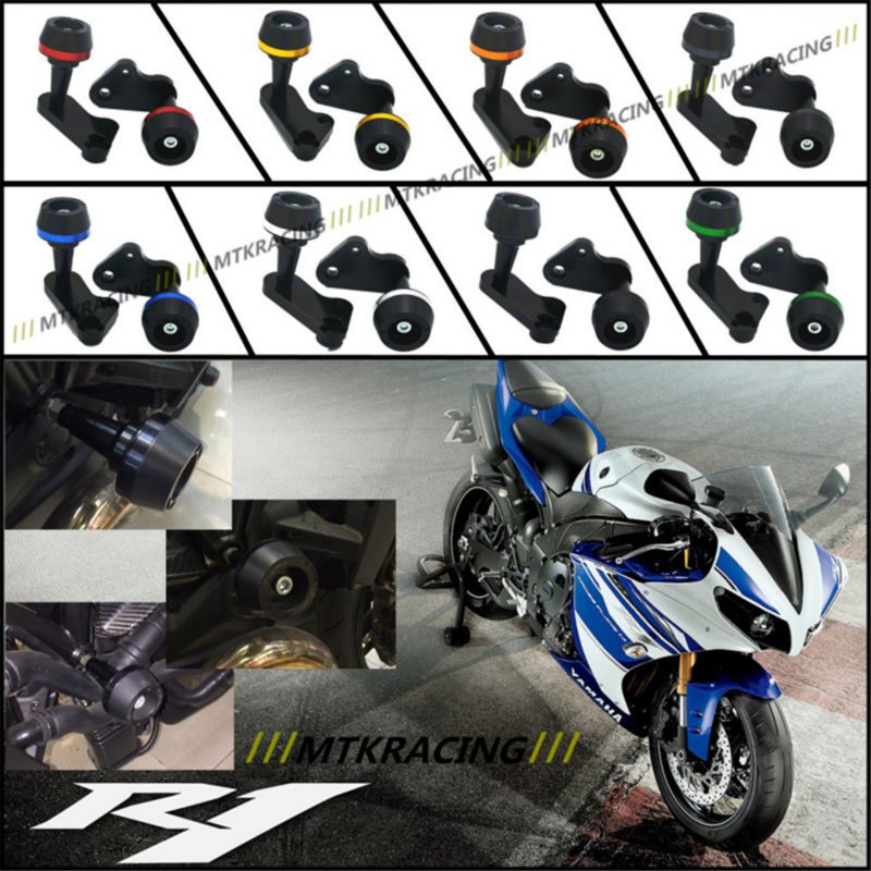 Free delivery New CNC Aluminum Motorcycle Falling Protection Left and Right Frame Sliders Protector For YAMAHA R1 2009-2014 dipal r patel paridhi bhargava and kamal singh rathore ethosomes a phyto drug delivery system