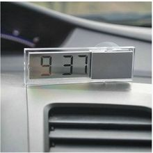 Free shipping Durable Digital LCD Display Car font b Electronic b font Clock With Sucker Cool