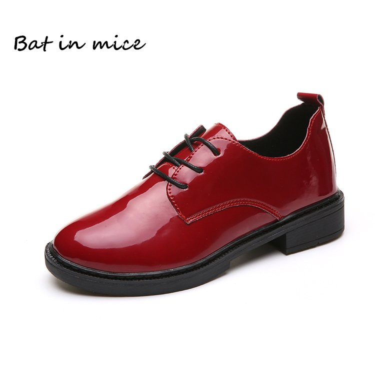 fashion Women casual Loafers shoes Autumn Winter women Female pu Leather cozy flats Round Toe Lace-Up Oxford shoes mujer W615 fevral fashion genuine leather oxford shoes for women round toe lace up casual shoes spring and autumn flat loafers shoes 35 44