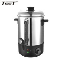 6L 1800W Electric Fast Heating Stainless Steel Water Boiler, Water Urn for Home/Office/Hotel, Black Color