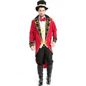 Image 3 - Cadılar bayramı vampir sihirbaz Ringmaster kostüm erkek sirk lider smokin ceket Vintage Tailcoat süslü elbise kıyafet erkek şapka