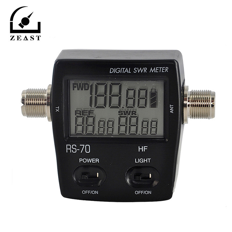 RS-70 Digital SWR/Power Meter HF 1.6-60MHz 200W SO239 M Type Connector For Two-way Radio SWR Power Meter Walkie Talkie New