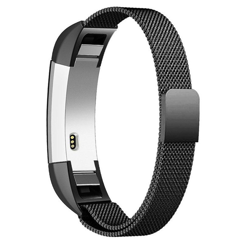 2018 High quality Milanese Magnetic Tainless Steel Watch Band Wrist strap For Fitbit Alta HR 200mm #0109