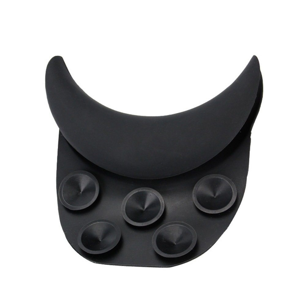 Black Silicone Neck Pillow Shampoo Head Pillow Neck Rest Suction Cup Hair Wash Sink Basin Hairdresser Tool Dropship Toiletry Kit