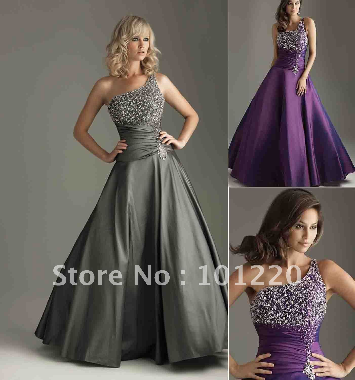 Discount Free Shipping Cwds078 One Shoulder With: Free Shipping Custom Made!Elegant Floor Length One