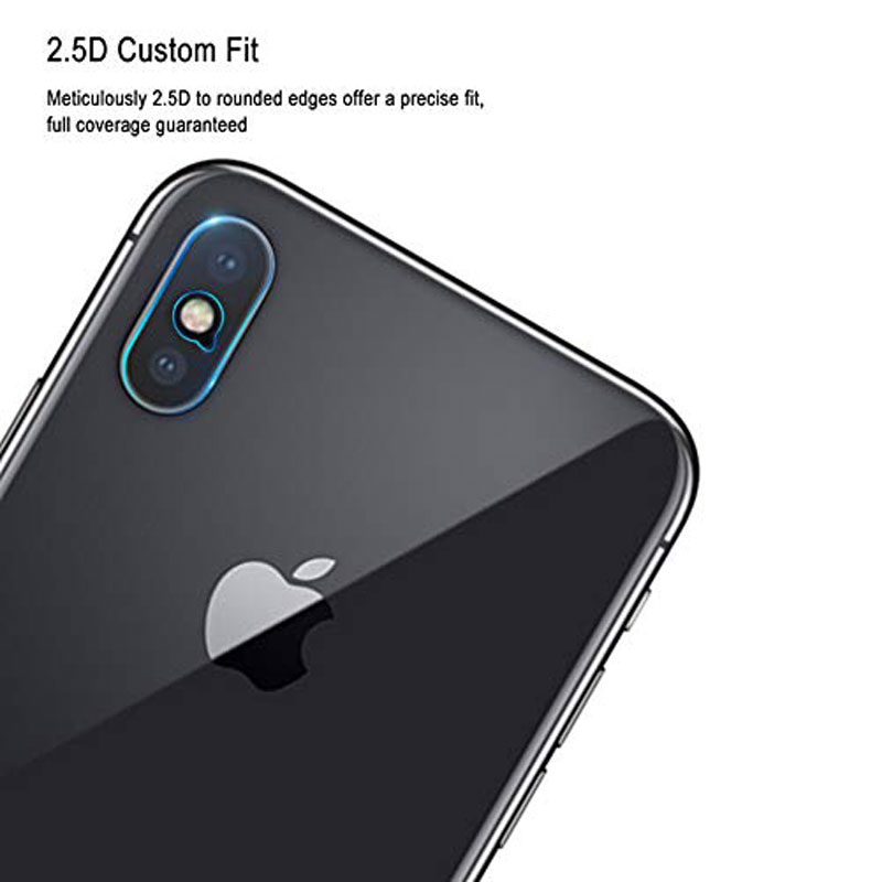 Ascromy For iPhone XS Max Rear Tempered Glass Camera Lens Protector Film Guard For iPhone XR X S 8 Plus 7 6 6S Camera Protection (3)
