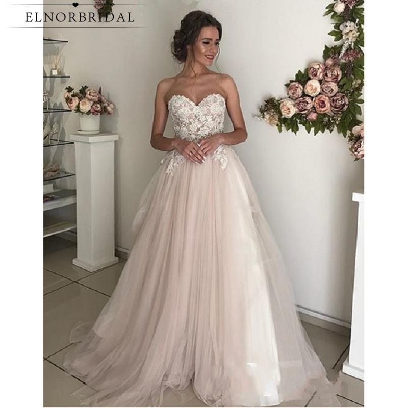 Dusty Pink Cheap Lace Wedding Dresses 2019 Vestidos De Novia Sweetheart  Handmade Bridal Gowns Tulle Trouwjurk Shop Online China-in Wedding Dresses  from ... 5144a0c4991a
