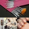 2016 New Product 20 Pcs Nail Art Design Set Dotting Painting Drawing Polish Pink Brush Pen Tools 9R5Y