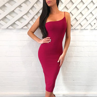 Seamyla Summer Dress 2019 Sexy Strapless Black Red Bodycon Bandage Dress Women Knee Length Night Out Club Evening Party Dresses