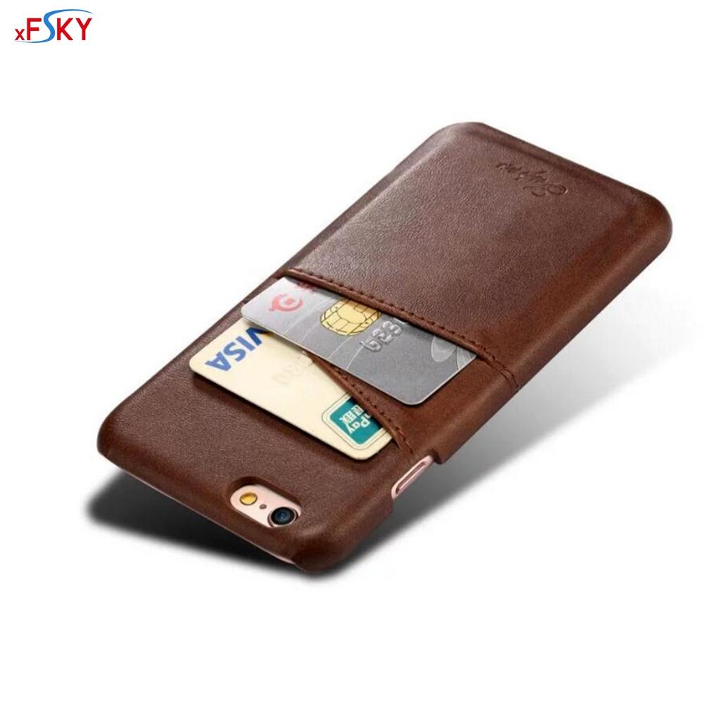 xFSKY funktionsläderfodral för iPhone 6 plus Fodral PU Vintage - Reservdelar och tillbehör för mobiltelefoner