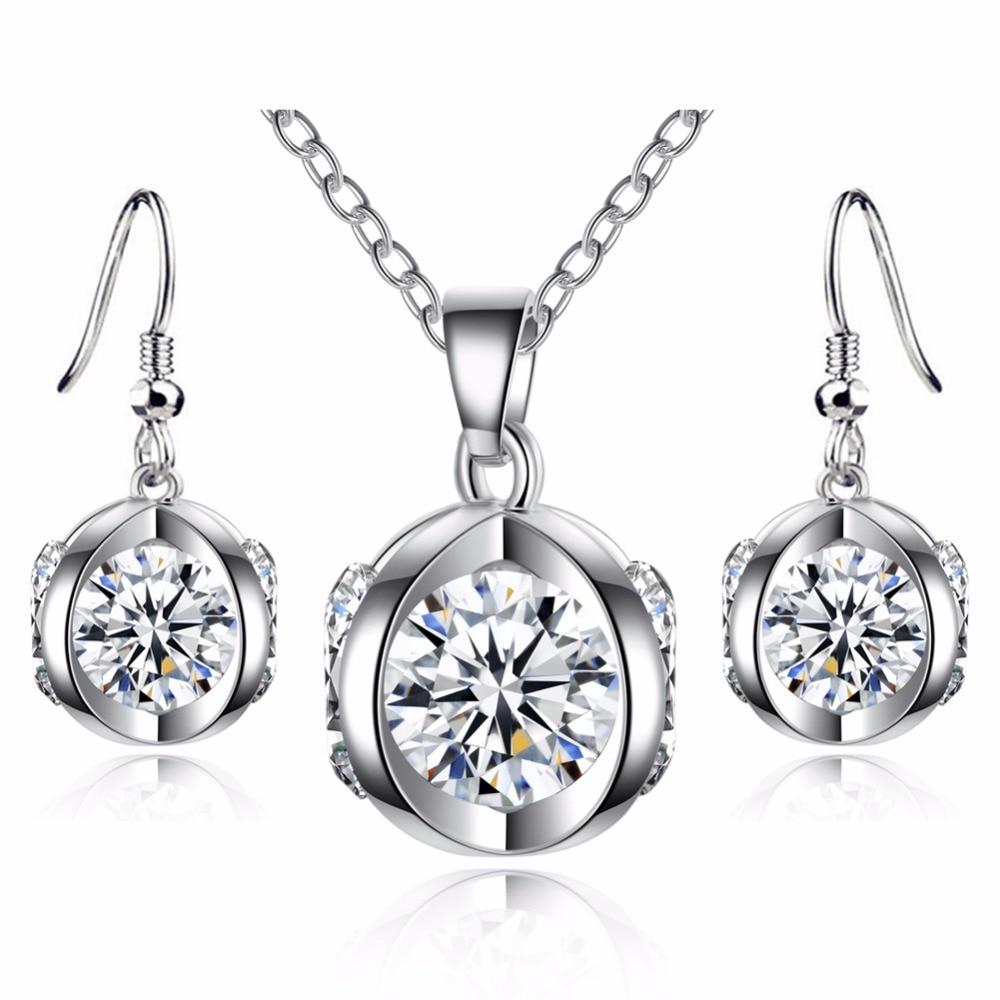 3pcs/Set Jewelry Sets 3D Pumpkin Shape Earrings Pendientes Ear Hook Necklace Pandent Wedding Engagement Women Girl Noble Gift