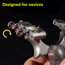 2019 new slingshot stainless steel mechanical aiming point high-grade outdoor Suitable for novice adjustable bow hunting(China)