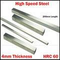 200*60*4 200x60x4 4 мм толщина HRC60 HSS прямоугольная металлообрабатывающая Расточная планка Fly Cutter режущий токарный инструмент Бит