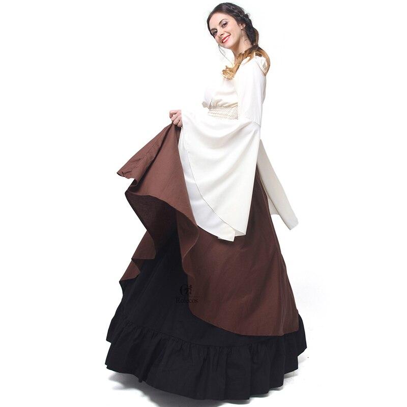 Rolecos Gothic Lolita Chiffon Dresses Wanita Renaissance Dresses - Kostum karnival - Foto 4