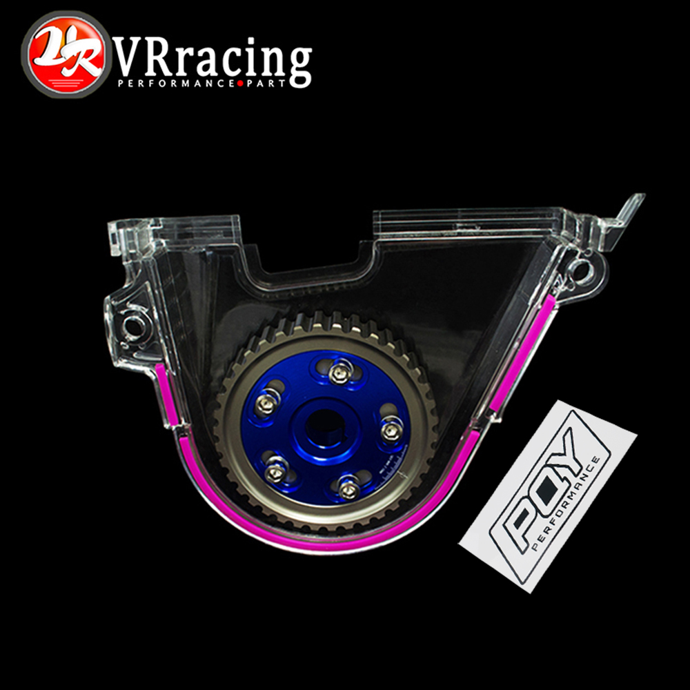 VR RACING - Aluminum Cam Gear + PQY Cam Cover FOR 92-00 Civic D16Z D16Y VR6542B+6337